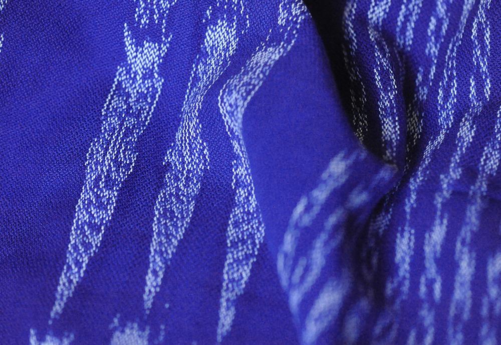Girasol sling z obročki Blue Ikat