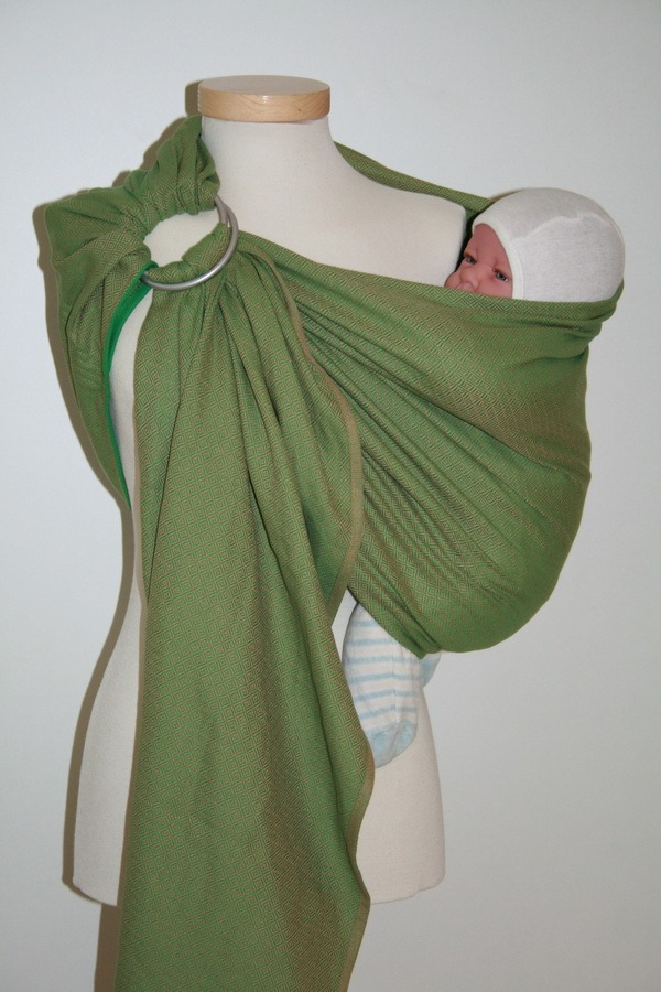 Storchenwiege® sling z obročki Leo zeleni 1