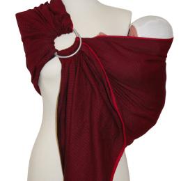 Storchenwiege® sling z obročki Leo Bordeaux 1