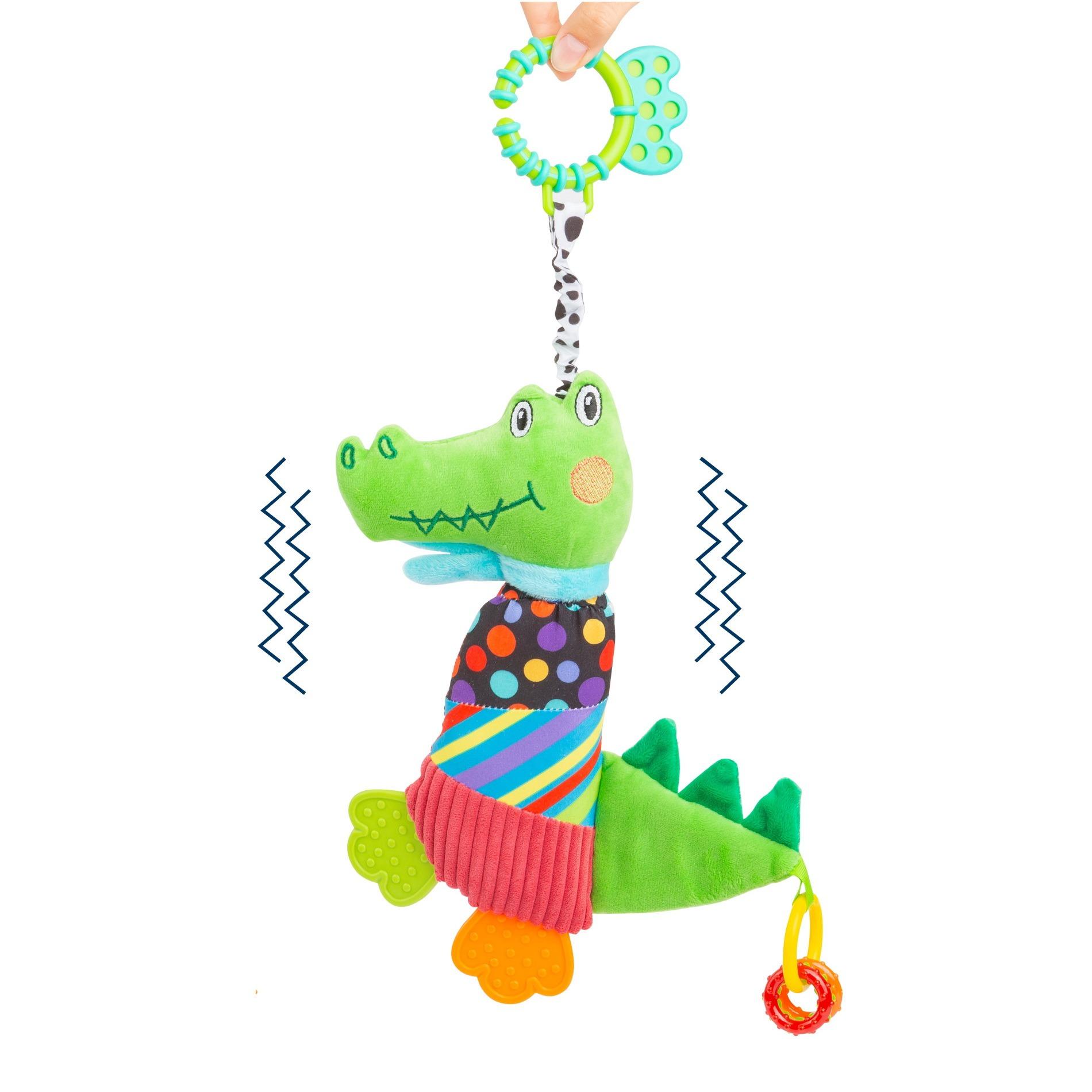 Igrača za voziček/posteljico Krokodil, 33 cm