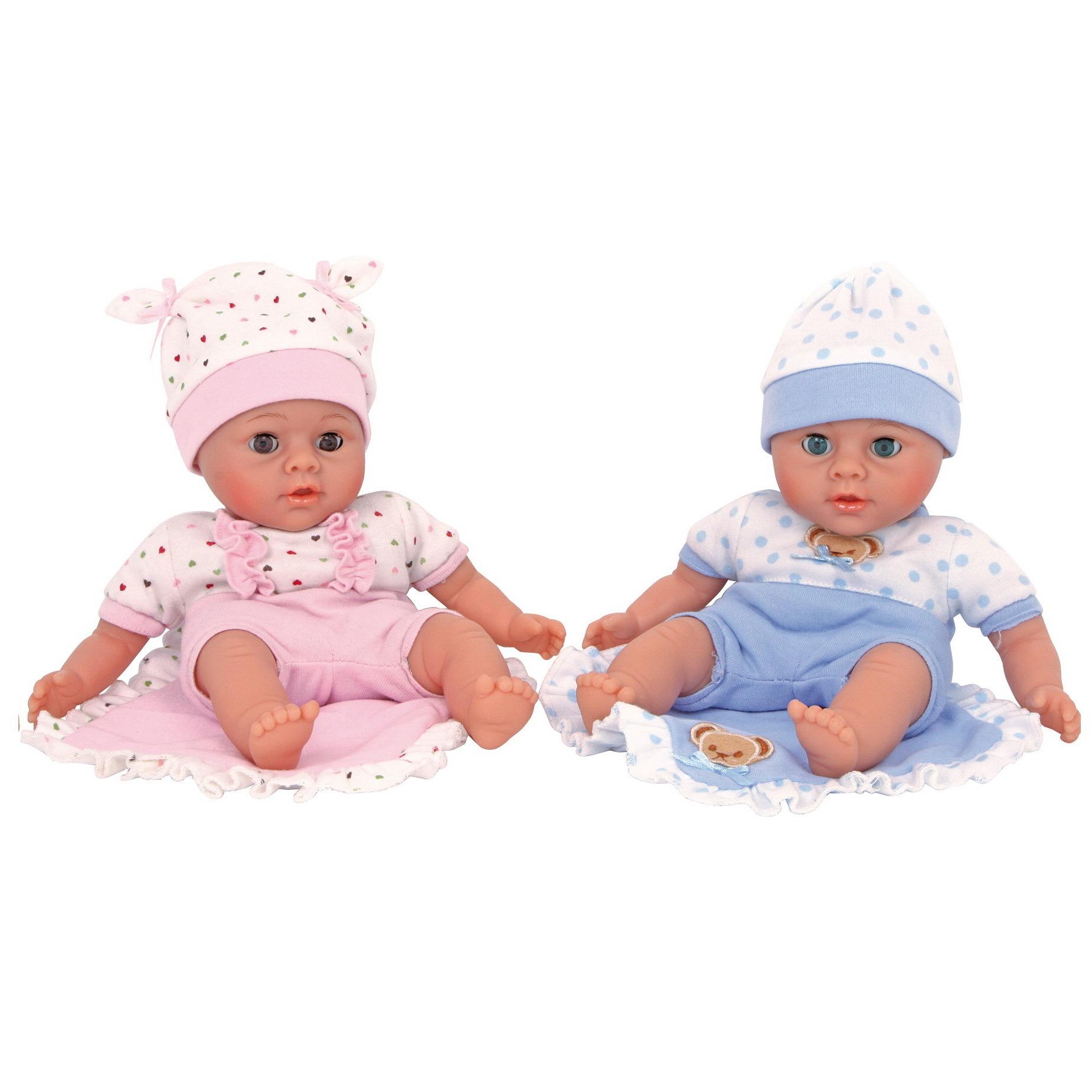 Dvojčka 2 dojenčka v kompletu, 27 cm