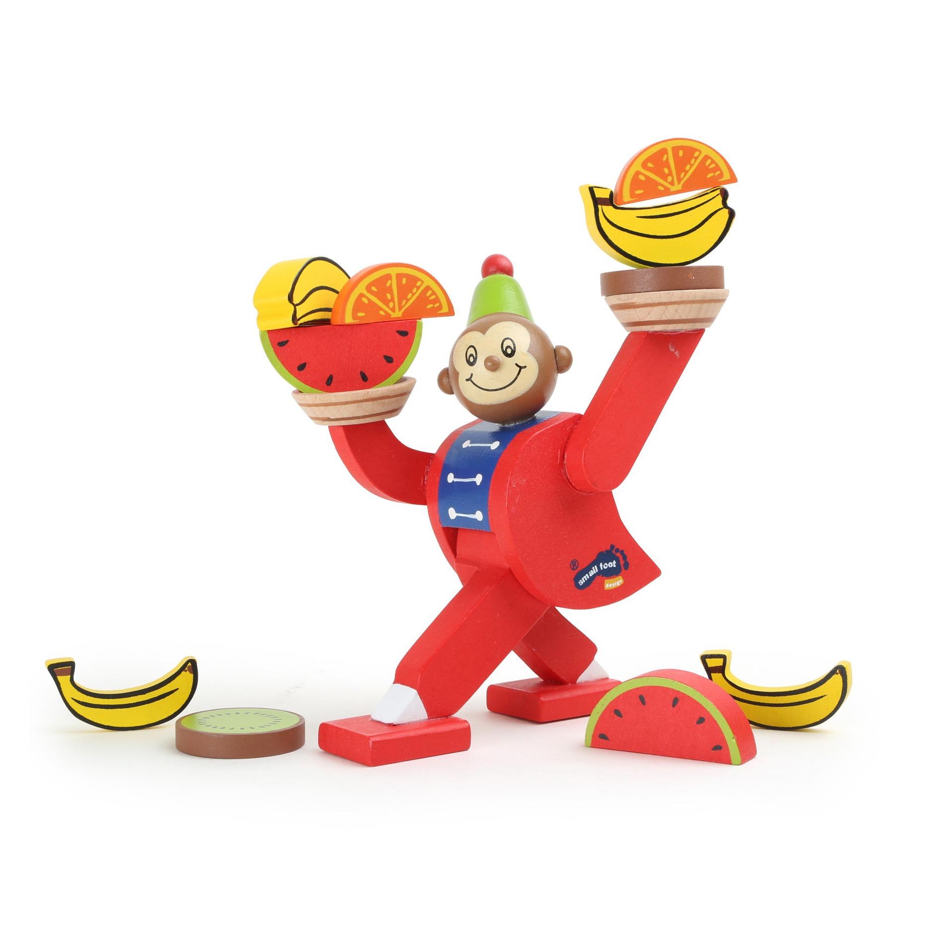 Igra za ravnotežje Lesena opica z dodatki