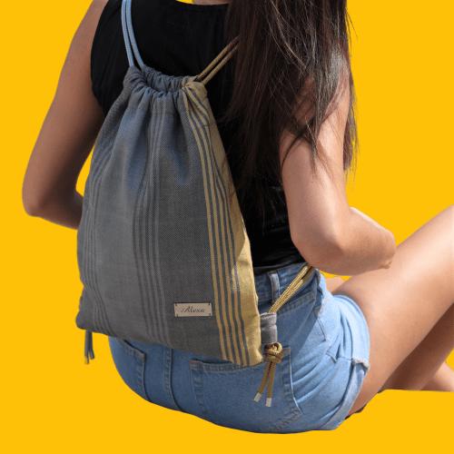 Ročno tkan nahrbtnik AceBag - Gold & Platinum