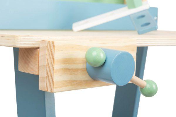 Lesena delovna miza z orodjem XL, 24-delni komplet