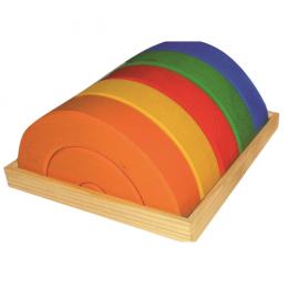Lesena sestavljanka mavrica, 15-delni komplet