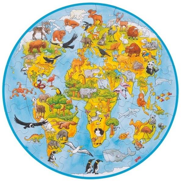 Sestavljanka zemljevid sveta XXL