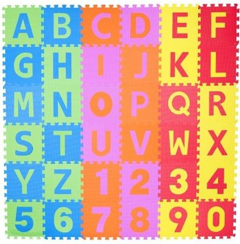 igralna podloga abeceda in številke