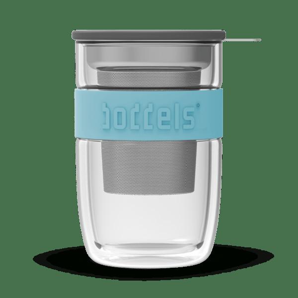 stekleni kozarec za čaj turkizna
