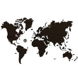 3D Zemljevid sveta, 110-delni komplet, XXL, črn