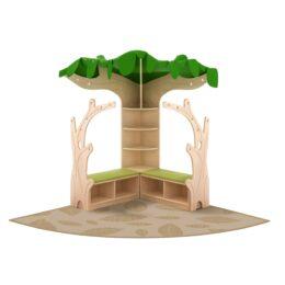 Bralni kotiček s tepihom Drevo